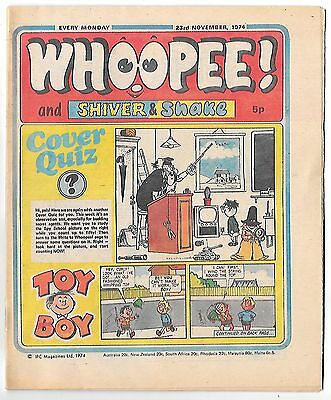 Whoopee! 23rd Nov 1974 (very high grade) Frankie Stein, Scream Inn, Spy School