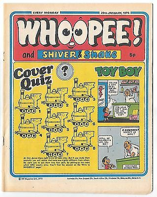 Whoopee! 25th Jan 1975 (very high grade) Frankie Stein, Scream Inn, Spy School