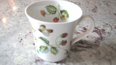 James Kent Coffee Mug STRAWBERRY Pattern Old Foley Made in England Butterflies