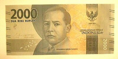 Banknotes Indonesia 2000 Rupiah 2016 Issue Unc Cond