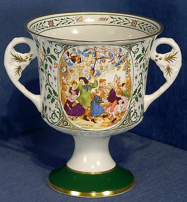 Caverswall 1981 Christmas Goblet L/ed 412/2500 Rejoicing at John Perrybingles!