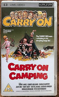 Carry On Camping [UMD Mini for PSP] DVD featuring Sid, Babs and the team.