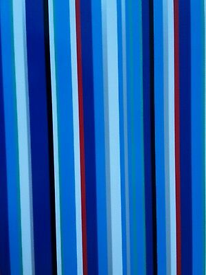 2 Sheets Of Thick Glossy Male Striped Wrapping Paper