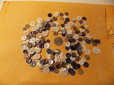Mother of Pearl Buttons--New Old Stock Mississippi River 1 pound of buttons