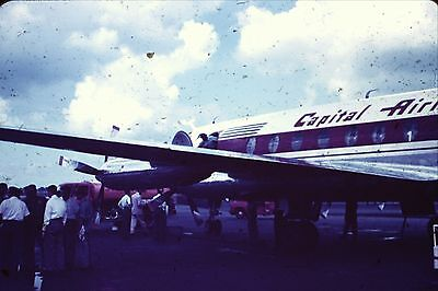 Kodachrome 35Mm Slide Capital Airlines  Plane Midway Airport