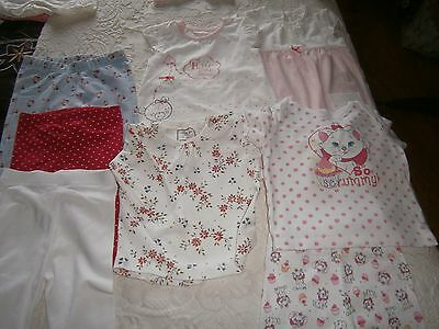 assortment of baby girls clothes age 3/6 months