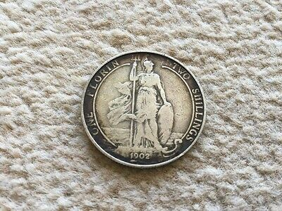 Edward VII British Coin 1902 Two Shillings / One Florin