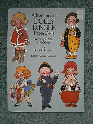 Adventures of Dolly Dingle Paper Dolls : 16 Antique Plates in Full Color NEW