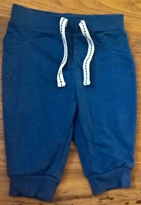 boys 0-3 months blue soft cuff joggers fab.will refund excess postage cost.