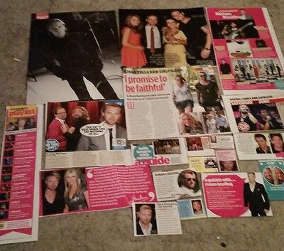 20 boyzone / ronan keating cuttings/ clippings/ articles + poster