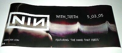NIN~With Teeth~8x20~Original Promo Poster~Excellent~2005~Nine Inch Nails~Reznor
