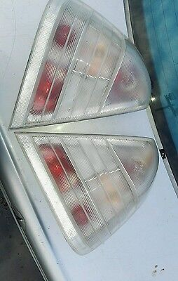 Mercedes C Class W202 1993-2000 Rear Tail Light Lamp Cluster Clear Lens