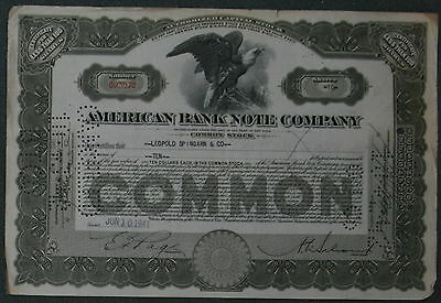 American Banknote Company 1941 10 Shares .