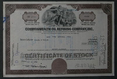 Commonwealth Oil Refining Company, Inc. 1982 800 Shares .