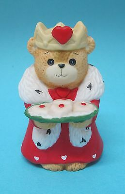 """1984 Lucy Rigg Lucy & Me Enesco Valentines Day King Bear Tray of Cookies 2 1/2"""""""