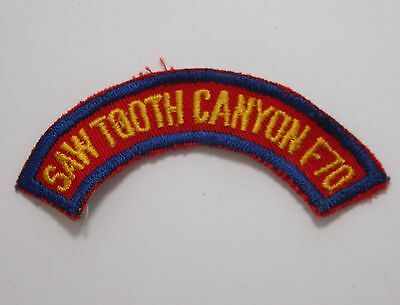 BSA / Boy Scouts of America - Vintage Sawtooth Canyon Shoulder Patch - CA