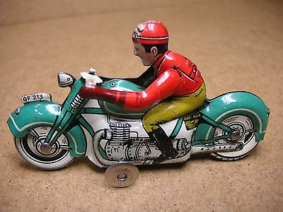 Pennytoy Georg Fischer GF 213 Motorrad Top US Zone Germany Tin Bike Tole Latta