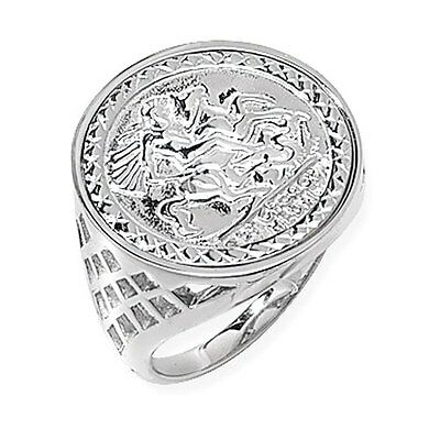 Sterling Silver St George Ring Coin style LARGE SIZES