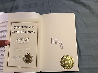 "Hillary Clinton Hard Choices Autographed 1st Edition ""xx of 1000"" Leather Box"