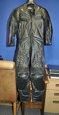 Leather One Piece Motorbike Suit Size 40.