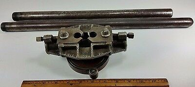 Vintage Reed Mfg Co, Erie, PA. No. 2A Pipe Threader  Great Shape! with handles
