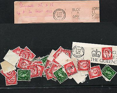GB  100 STAMPS 2½d + 1½d Wildings to September 1953 ORIGINAL UNSORTED LOT