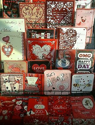 100 top valentines day cards , wholesale joblot greeting cards