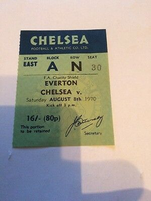 Chelsea v Everton - FA Charity Shield - 08 August 1970 Ticket