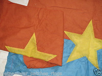 2 flags , THE NLF , THE WINNER TAKES ALL , VIETCONG ,  COMMUNIST ,  VC FLAG