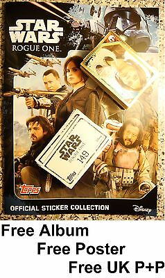 FULL SET Topps Disney Star Wars Rogue One FREE ALBUM + All 200 Stickers
