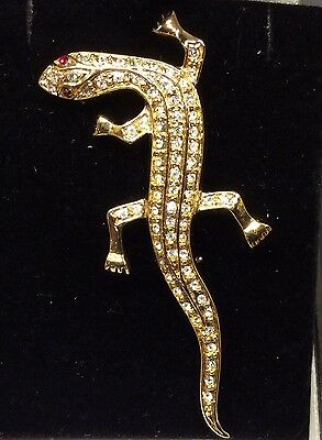 Vintage collectable lizard or gecko brooch 1970's