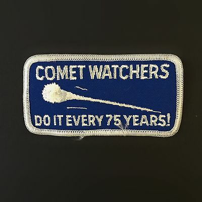 Halley's Comet Watchers Patch Astronomy Space Rare Asteroid