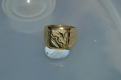 Yellow Gold Men's Ring Size Y