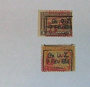 stamps haiti old