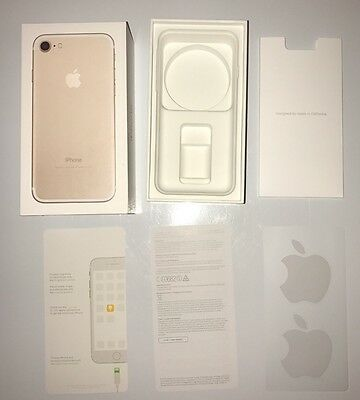 Apple Iphone 7 Gold 32gb empty box Tray Box instructions & sticker Only no Phone