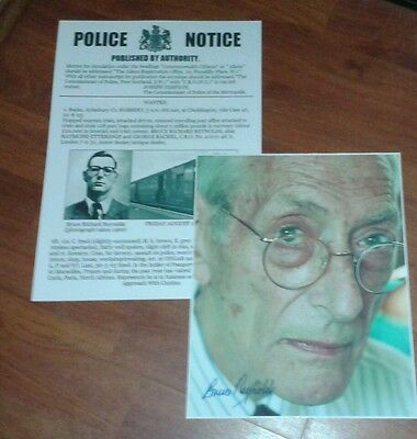 Bruce Reynolds Wanted Poster & Signed Picture. The Great Train Robbery 1963.