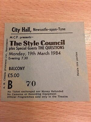 Style Council / The Jam Ticket