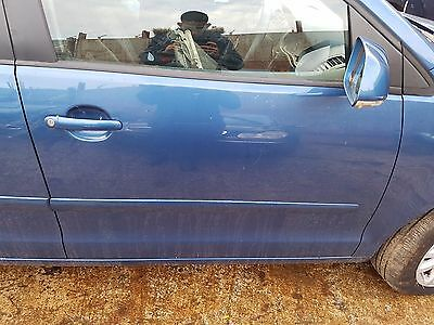 Vw Polo 9N3 2005-2009 Osf Offside Front Right Driver Side Bare Door Blue La5K