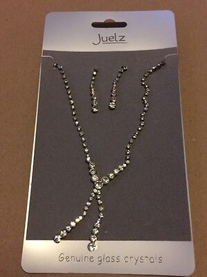 NEW - Diamante Crystal Necklace & Earrings Set Bridal Party Jewellery Wedding