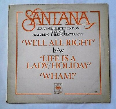 """Santana - Well Alright (Limited Edition 12"""" Record)"""