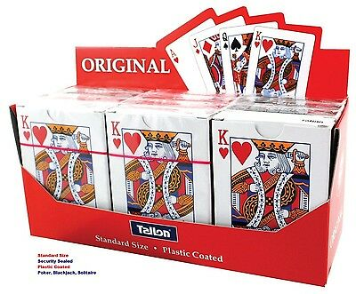 Playing Card Quality Deck Plastic Coated Original Standard POKER - WH2 R4B :NEW