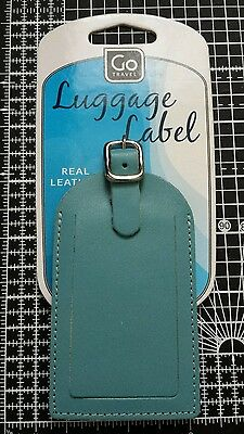 Go Travel Real Leather Travel Luggage Tag Suitcase Label Address Id Holiday Tags