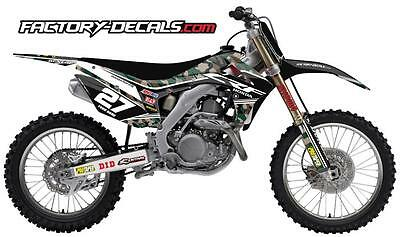 Honda military camo CRF 150 Graphics Decals all years 1990 to present