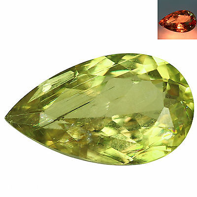 7.45Ct Pear Cut 17 x 10 mm AAA Color Change Turkish Diaspore