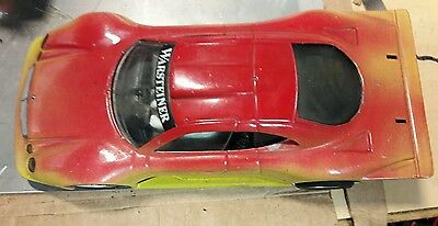 Ninco Mercedes CLK GTR custom  D2 slot car rolling shell and chassis