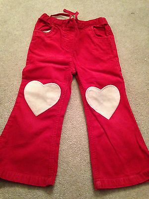 mini boden red cord trousers 2,3 years