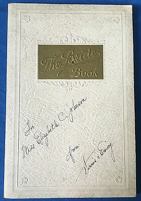 1930's Book For The New Bride Wedding Etiquette Sterling Silverware Advertising
