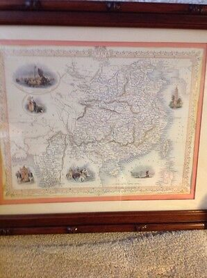 """Framed Map of China  Drawn & Engraved by J.Rapkin 18""""x14"""""""