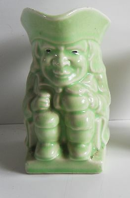 Vintage Toby Jug. Collectable Pottery. Green Character Jug