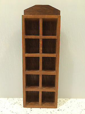 Vintage Wooden Miniature Display Cabinet ( can hold 10 thimbles)
